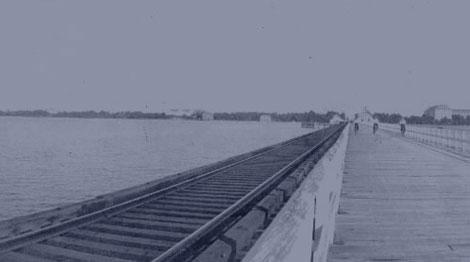 Wooden Bridge In Palm City